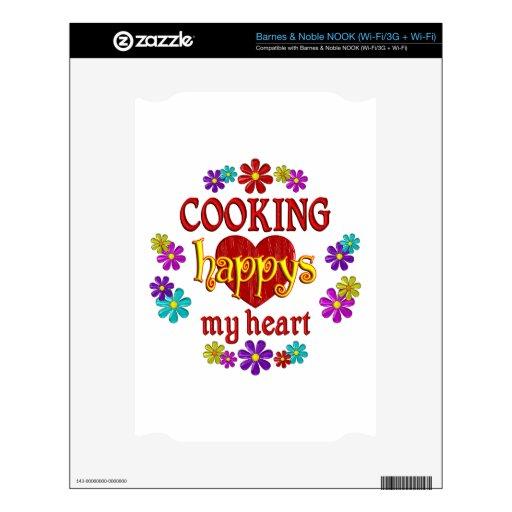 El cocinar feliz calcomanías para NOOK
