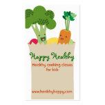 El cocinar lindo de los niños del bolso de tarjetas de visita