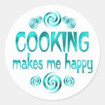 El cocinar me hace feliz etiqueta