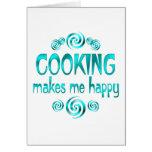 El cocinar me hace feliz felicitación