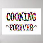 El cocinar para siempre impresiones
