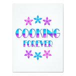El cocinar para siempre invitación 13,9 x 19,0 cm
