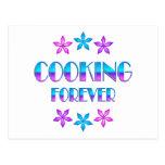 El cocinar para siempre postal
