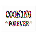 El cocinar para siempre tarjeta postal