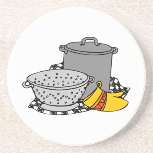 El cocinar posavasos personalizados
