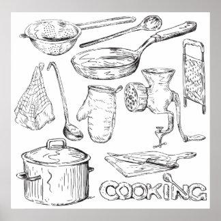 El cocinar póster