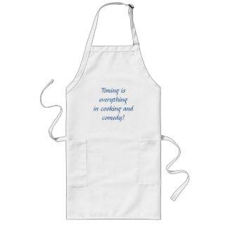¡El cocinar y comedia! Delantal Largo