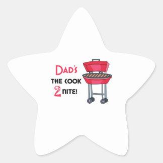 ¡El cocinero 2 Nite del papá! Pegatina En Forma De Estrella