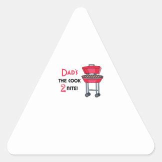 ¡El cocinero 2 Nite del papá! Pegatina Triangular