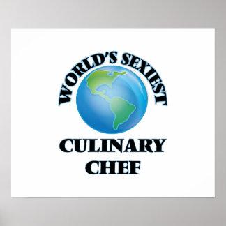 El cocinero culinario más atractivo del mundo posters