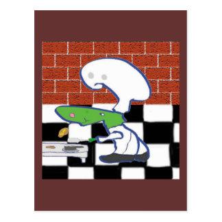 El cocinero de la caligrafía postal