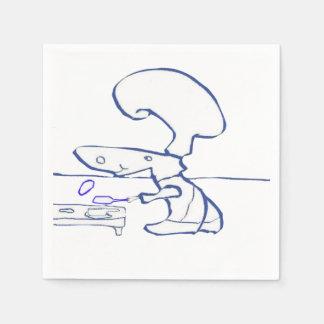 El cocinero de la crepe de la caligrafía servilleta desechable