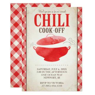 """El cocinero del chile del Bbq del ~ de las Invitación 5"""" X 7"""""""