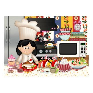 El cocinero/el abastecedor felices - SRF Tarjetas De Visita Grandes