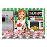 El cocinero/el abastecedor/la panadería felices -  tarjeta de visita