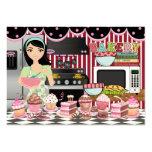 El cocinero/el abastecedor/la panadería felices -  tarjeta de negocio