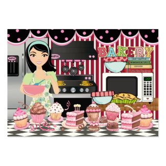 El cocinero el abastecedor la panadería felices - tarjeta de negocio