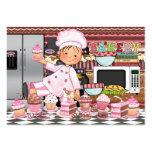 El cocinero/el abastecedor/la panadería felices -  tarjetas de negocios