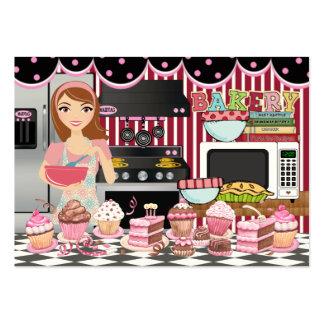 El cocinero/el abastecedor/la panadería felices -  tarjeta personal