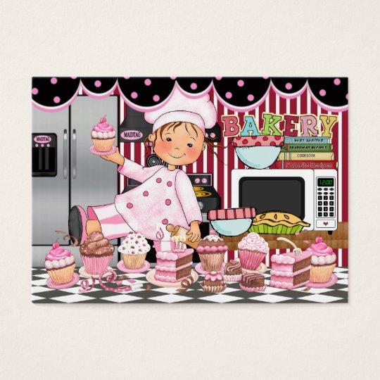 El cocinero/el abastecedor/la panadería felices - tarjeta de negocios