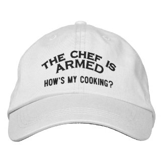 El cocinero es 2 ARMADOS Gorras Bordadas