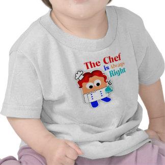 El cocinero es siempre camiseta infantil derecha