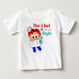 """""""El cocinero es siempre"""" camiseta infantil derecha Playera Para Bebé"""