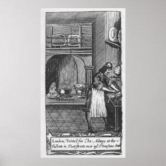 """""""El cocinero francés"""" por el La Varenne Póster"""