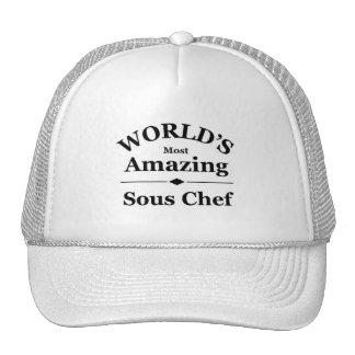 El cocinero más asombroso de Sous del mundo Gorros Bordados