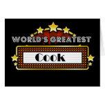 El cocinero más grande del mundo tarjeta de felicitación