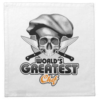 El cocinero más grande v6 del mundo servilletas imprimidas