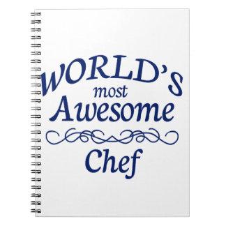 El cocinero más impresionante del mundo libros de apuntes