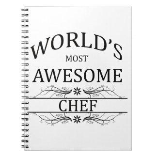 El cocinero más impresionante del mundo libretas espirales