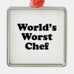 El cocinero peor del mundo adornos de navidad