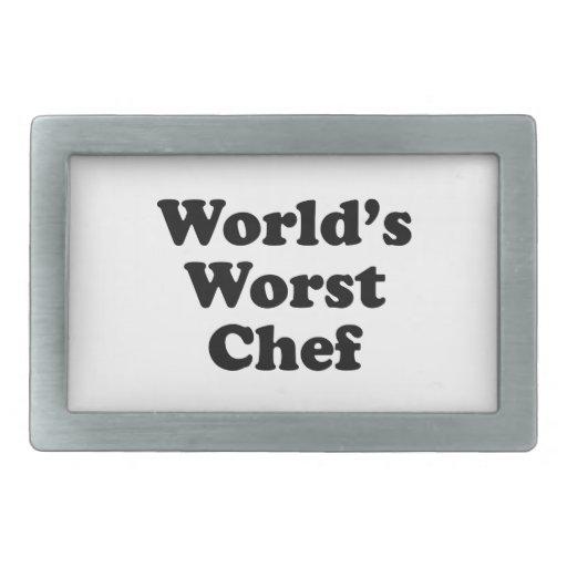El cocinero peor del mundo hebillas cinturón