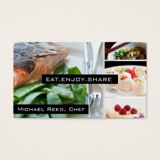 El cocinero privado mantiene la tarjeta de visita