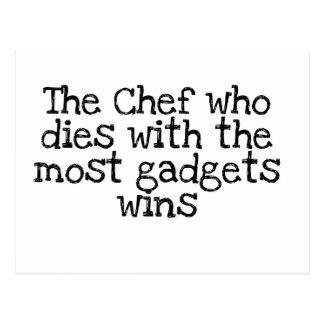 El cocinero que muere con el artilugio del MOS Postales