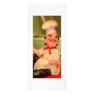 El cocinero que se sienta tarjeta publicitaria