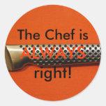 ¡El cocinero tiene siempre razón! Etiquetas