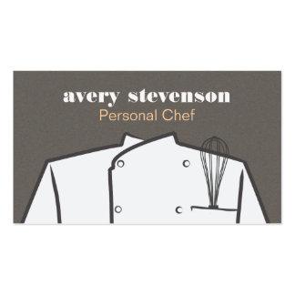 El cocinero uniforme y bate el abastecimiento tarjetas de visita