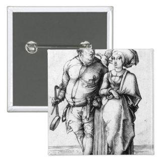 El cocinero y su esposa pin cuadrada 5 cm