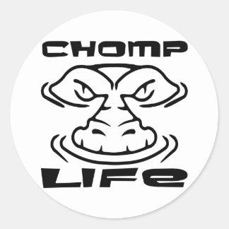 El cocodrilo Chomp vida Etiquetas Redondas