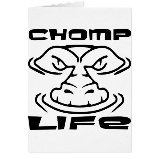 El cocodrilo Chomp vida Felicitación