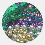 El cocodrilo del carnaval gotea a los pegatinas etiquetas redondas