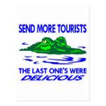 El cocodrilo envía a más turistas tarjeta postal