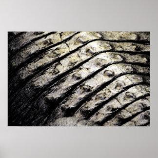 el cocodrilo escala el modelo oscuro abstracto ase póster