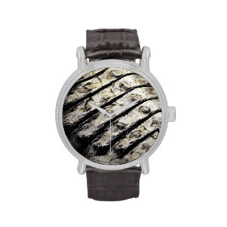 el cocodrilo escala el modelo oscuro abstracto ase relojes de mano