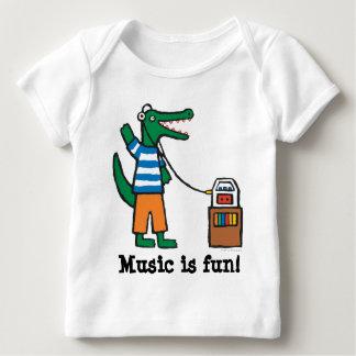 El cocodrilo fresco escucha la música remeras