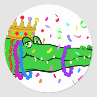 El cocodrilo gotea carnaval etiqueta redonda