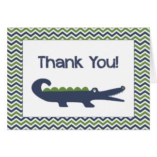 El cocodrilo le agradece las tarjetas